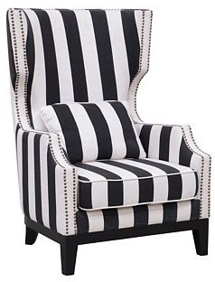 Best Classic Concepts Furniture Edith Wingback Chair Black 400 x 300