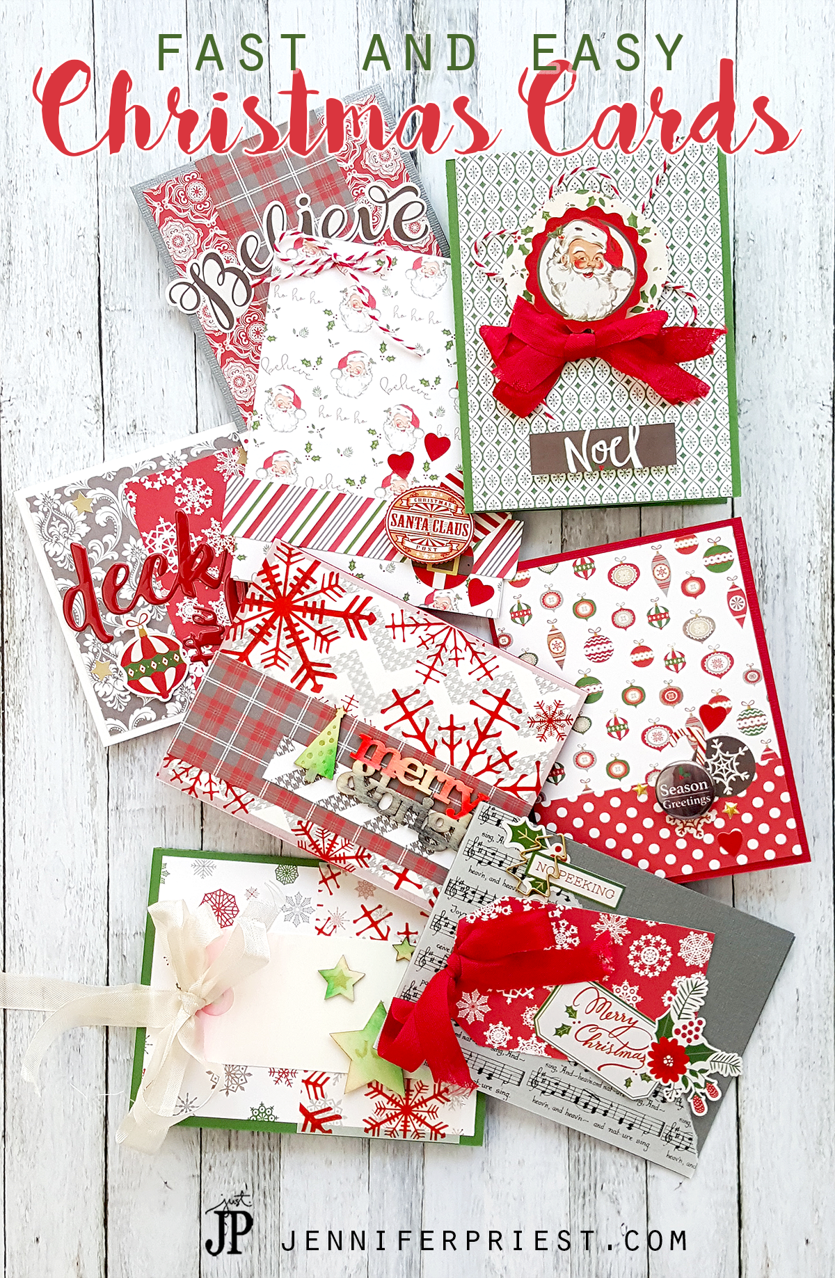 Fast Christmas Cards with Clique Kits and Tombow #Sponsored | Easy ...