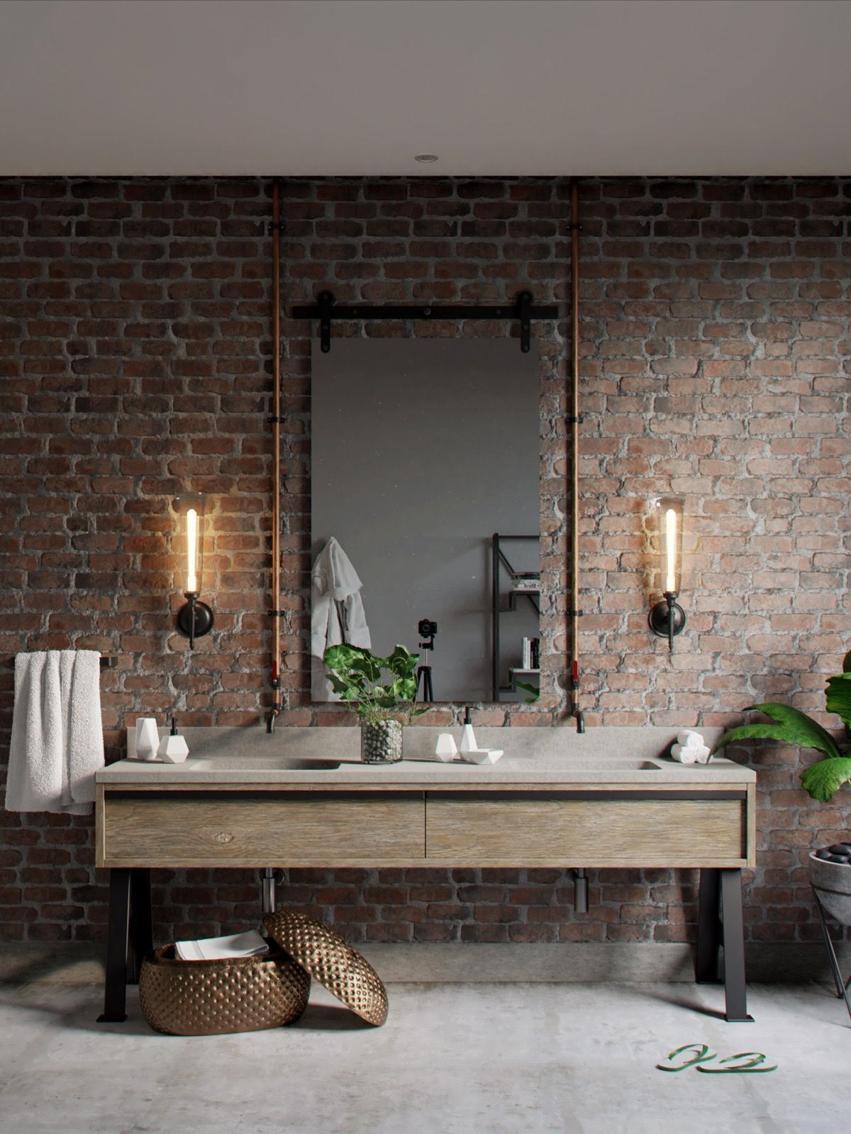 Photo of 51 Industrial Style Bathrooms Plus Ideas and accessories you can copy …