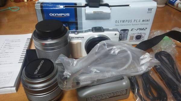 OLYMPUS PEN mini E-PM2 ダブルズームキット 新品同様_画像1