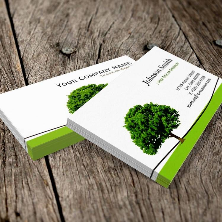 Wise Oak Tree Symbol - Professional Tree Service Business Card ...