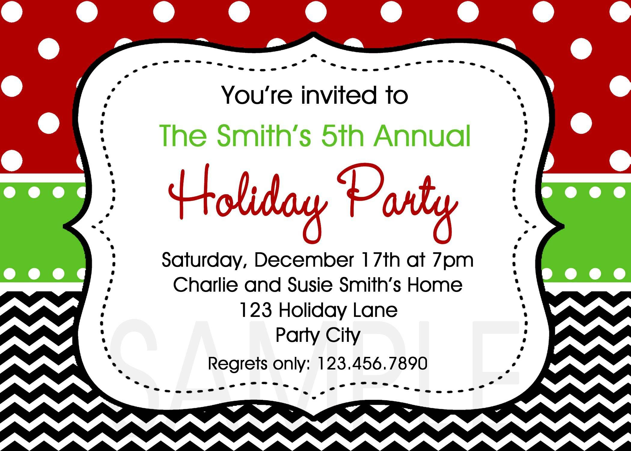 Christmas Party Invitation Templates Free Word | Templates ...