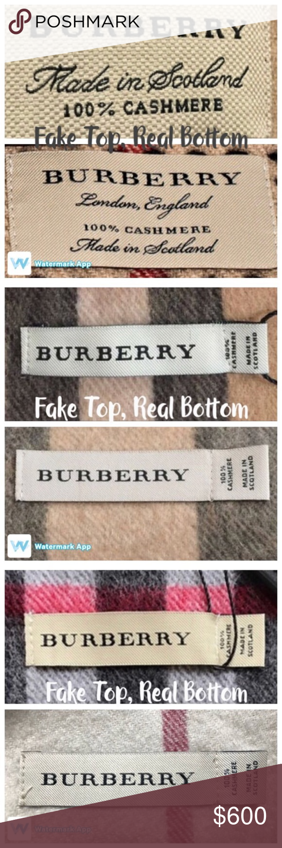 Burberry Scarf Tag : burberry, scarf, AUTHENTIC, Scarves:, Read/Share!, Burberry, Scarf,, Burberry,, Things