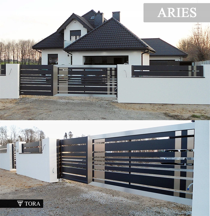 Nowoczesne Bramy I Ogrodzenia Z Aluminium Tora 7296088605 Allegro Pl House Fence Design House Gate Design Balcony Grill Design
