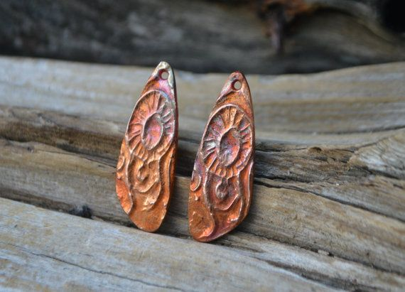 Abstract Jellyfish  Handmade Copper Earring by KiyoiDesign on Etsy
