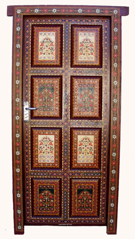 Fabulous front door antique orient vintage carved for Fabulous front doors