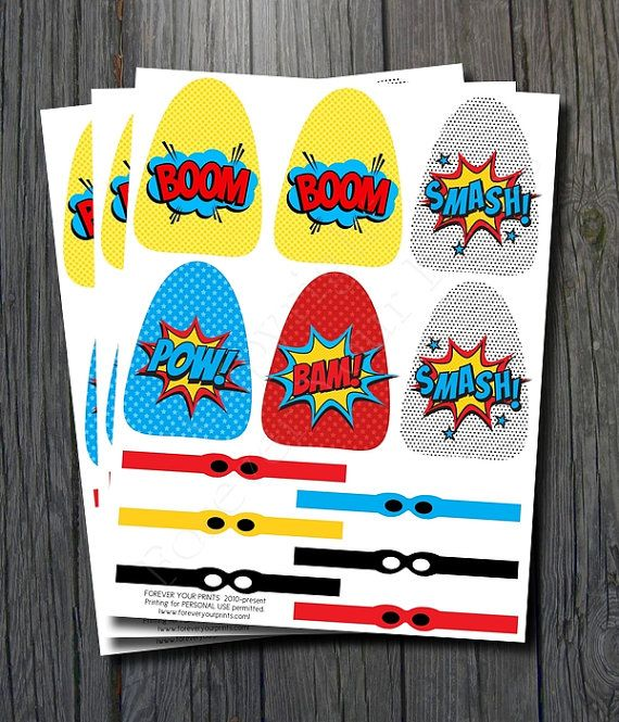 Superhero Lollipop Party Favor, Lollipop Capes and Masks, Superhero