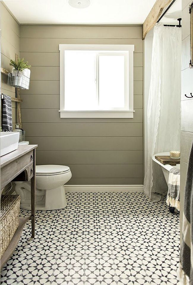 Swoon Over These 14 Gorgeous Patterned Tile Designs Modern Farmhouse Bathroom Bathroom Styling Small Bathroom Remodel