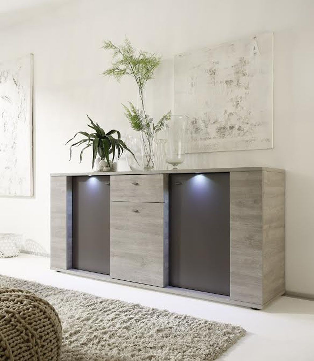 italian contemporary sideboard buffet with led lights in 2019 rh pinterest com modern buffets and sideboards