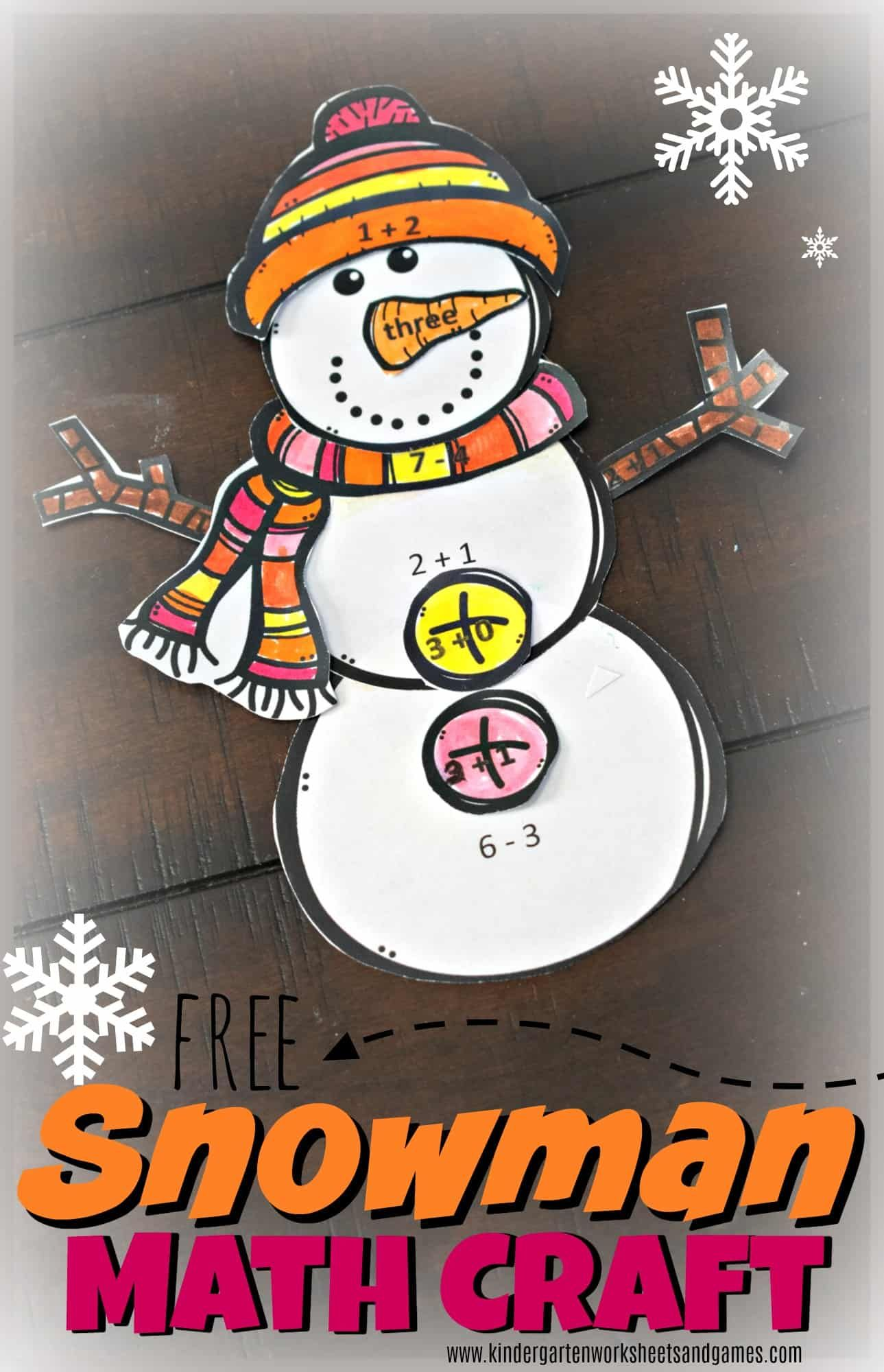 Free Snowman Math Craft