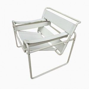 Lounge Chair with White Frame, 1980s