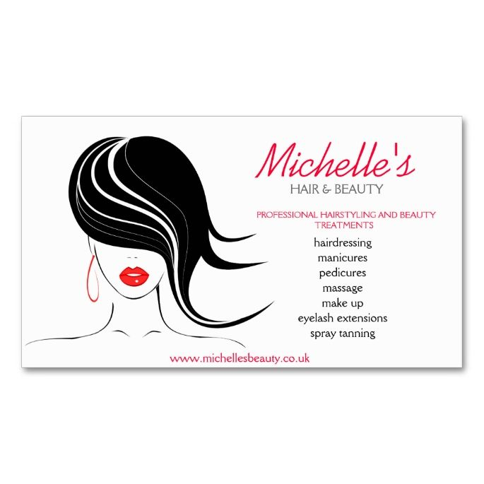 Hair and Beauty salon, business card design. This great