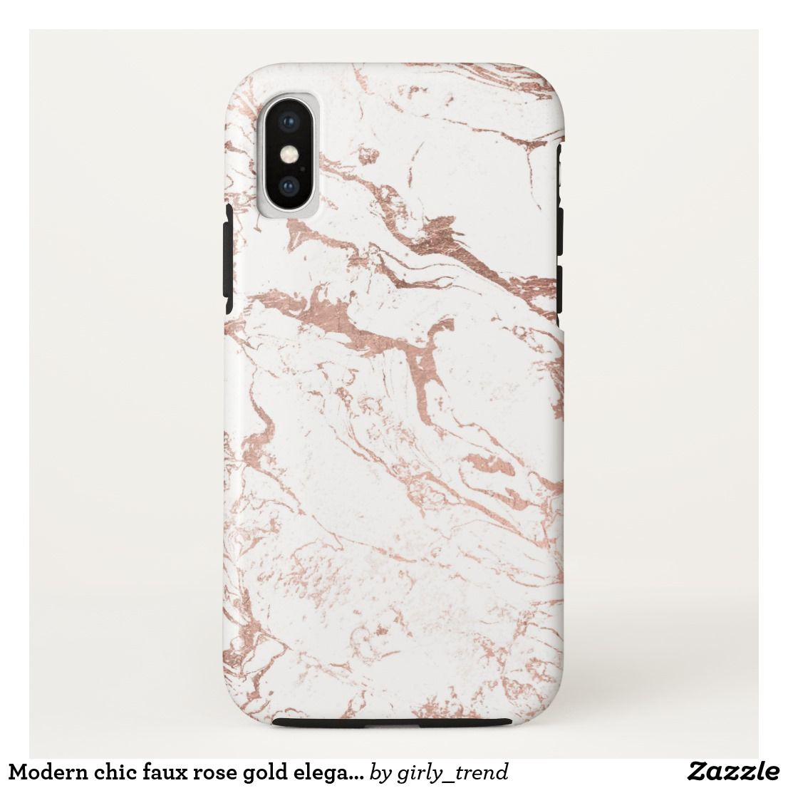 Modern Chic Faux Rose Gold Elegant White Marble Case Mate Iphone Case Iphone Xs Cases Iphone Xs Max Cases Modern Iphone Case Marble Iphone White Marble Iphone