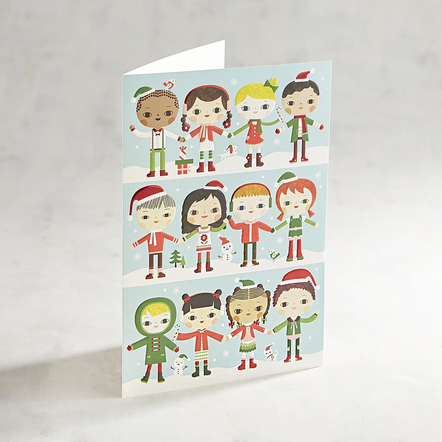 unicef kids holding hands holiday card pack of 12 - Unicef Holiday Cards