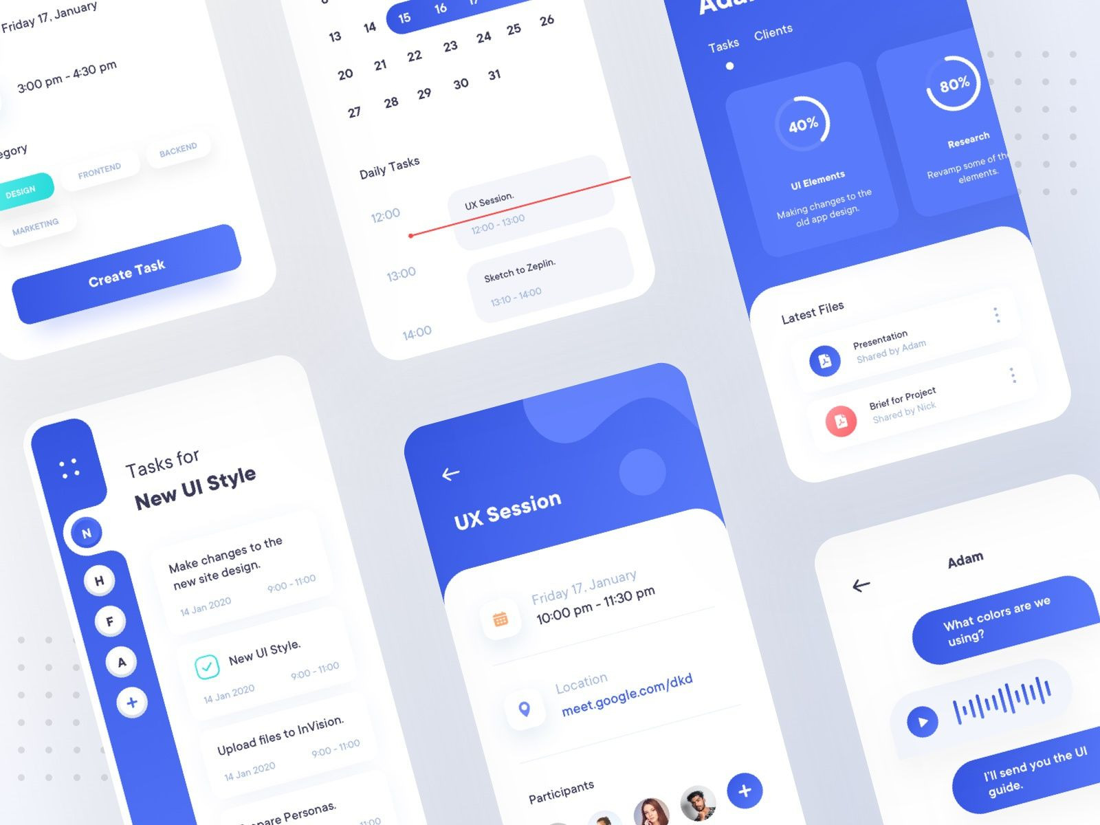 Task Management App Concept In 2020 Task Management App App Design Inspiration App Design Layout