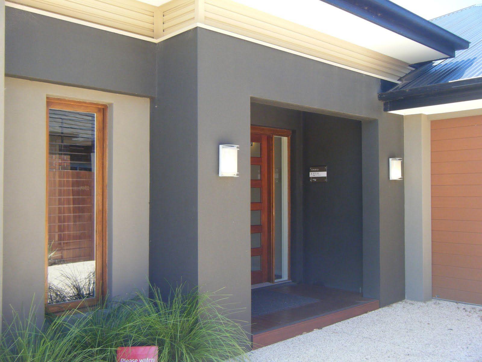 Porche d 39 entr e fa ade de maison en 2019 d co maison - Exterior wall color house images ...