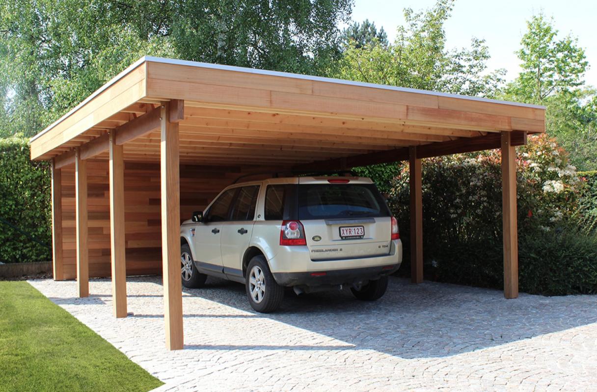 Carport moderne Jardin maison, Plan cabane en bois