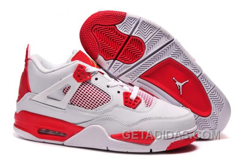 another chance cheap best sneakers Online For Sale Carmelo Anthony Air JD 4 Melo PE White Red Super ...