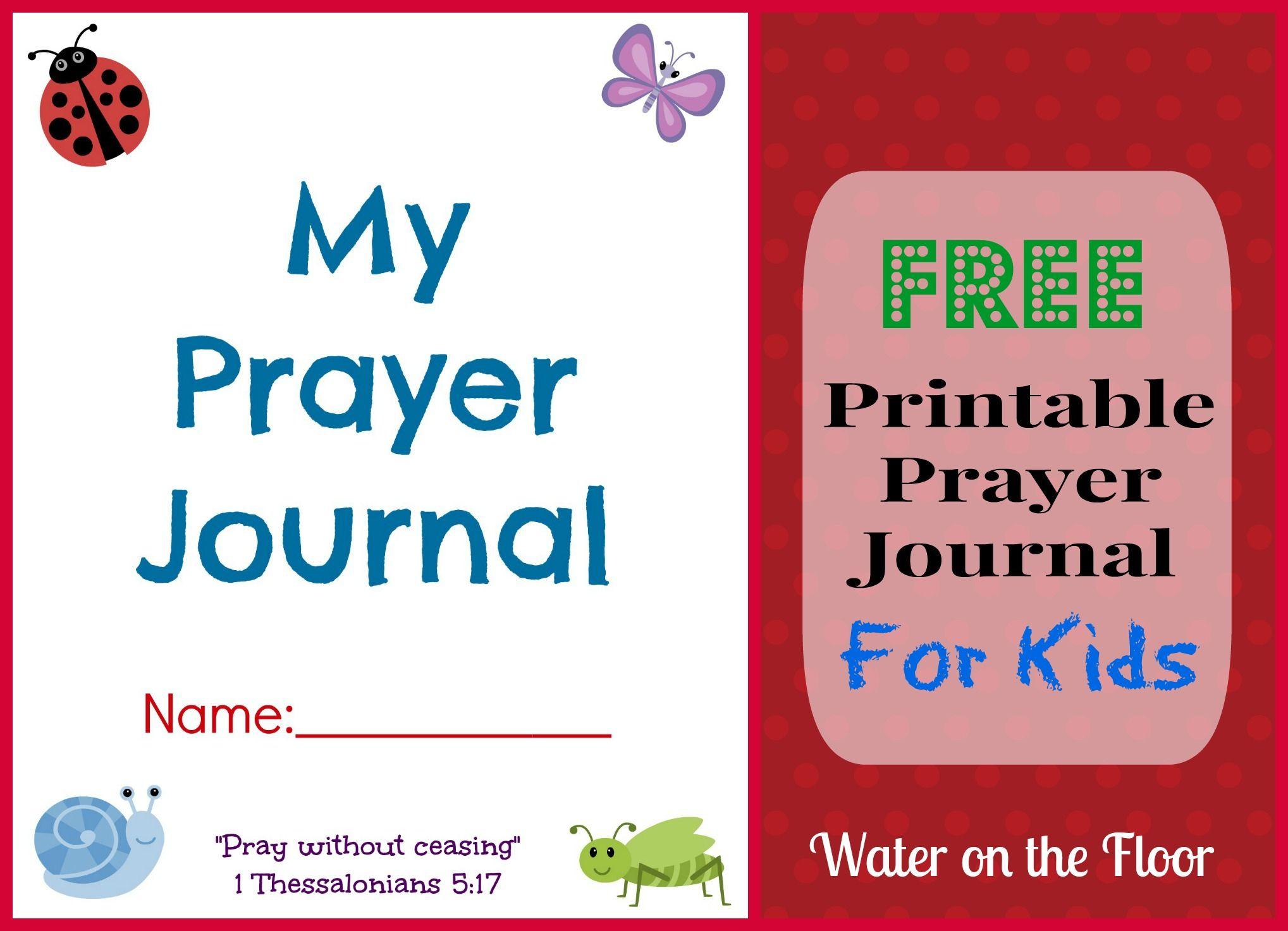 Free Printable Prayer Journal For Kids