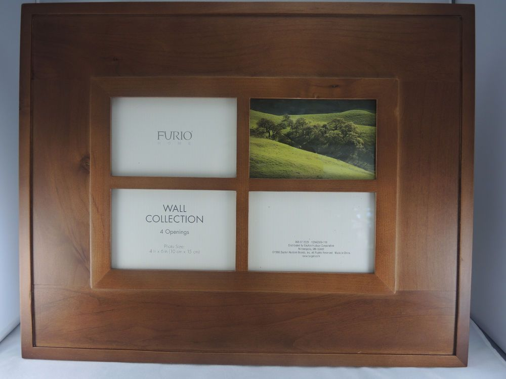 Dayton Hudson Brown Wood Furio Wall Collect. Photo Collage Frame, 4 ...