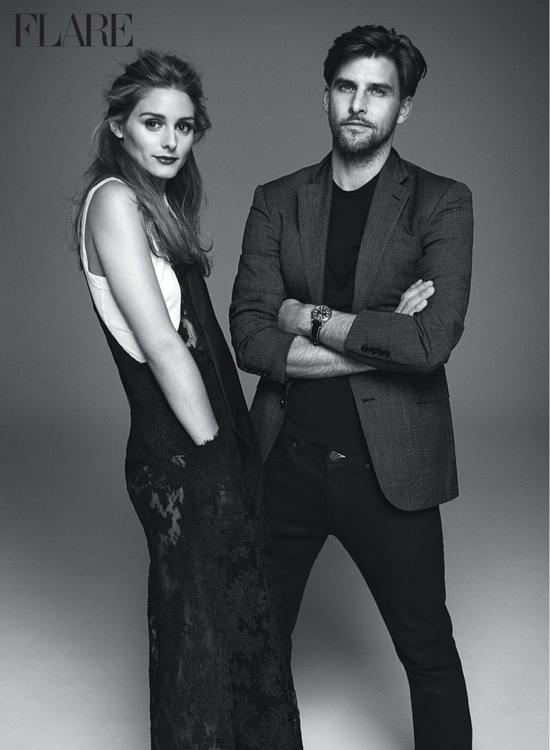 OLIVIA PALERMO & HUSBAND JOHANNES HUEBL POSE FOR FLARE'S FEBRUARY ISSUE