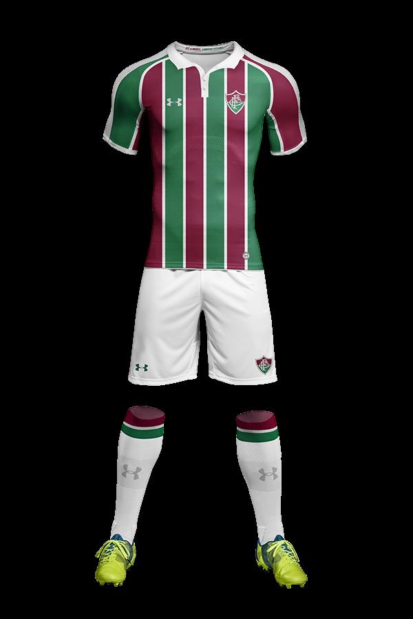 971c00eae1 Designer tricolor faz mockups de uniformes do Fluminense para a Under  Armour