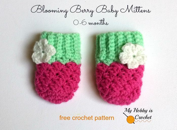 Blooming Berry Baby Mittens - Free Crochet Pattern | Pinterest ...