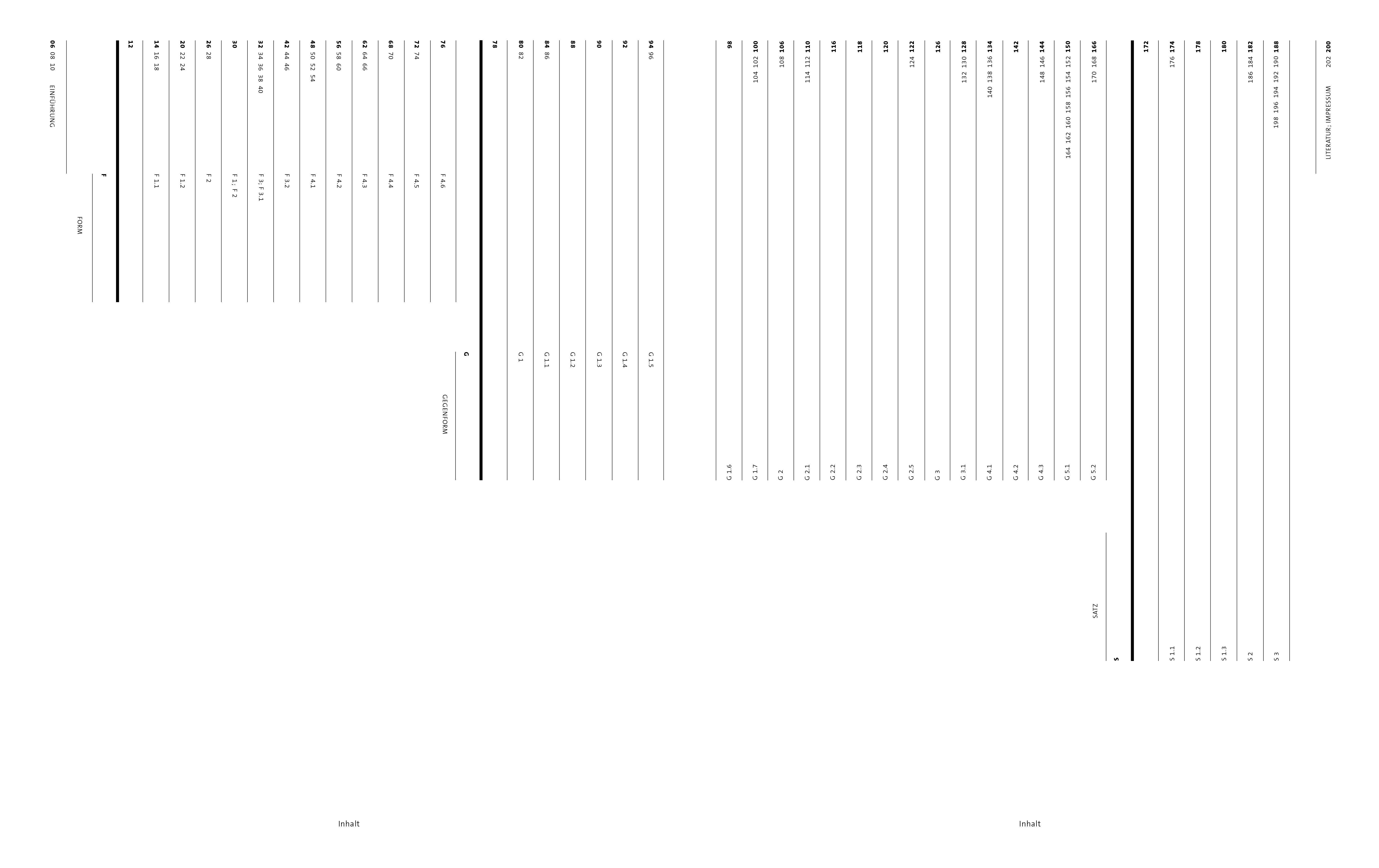 #Register Editorial Design Linien Balken