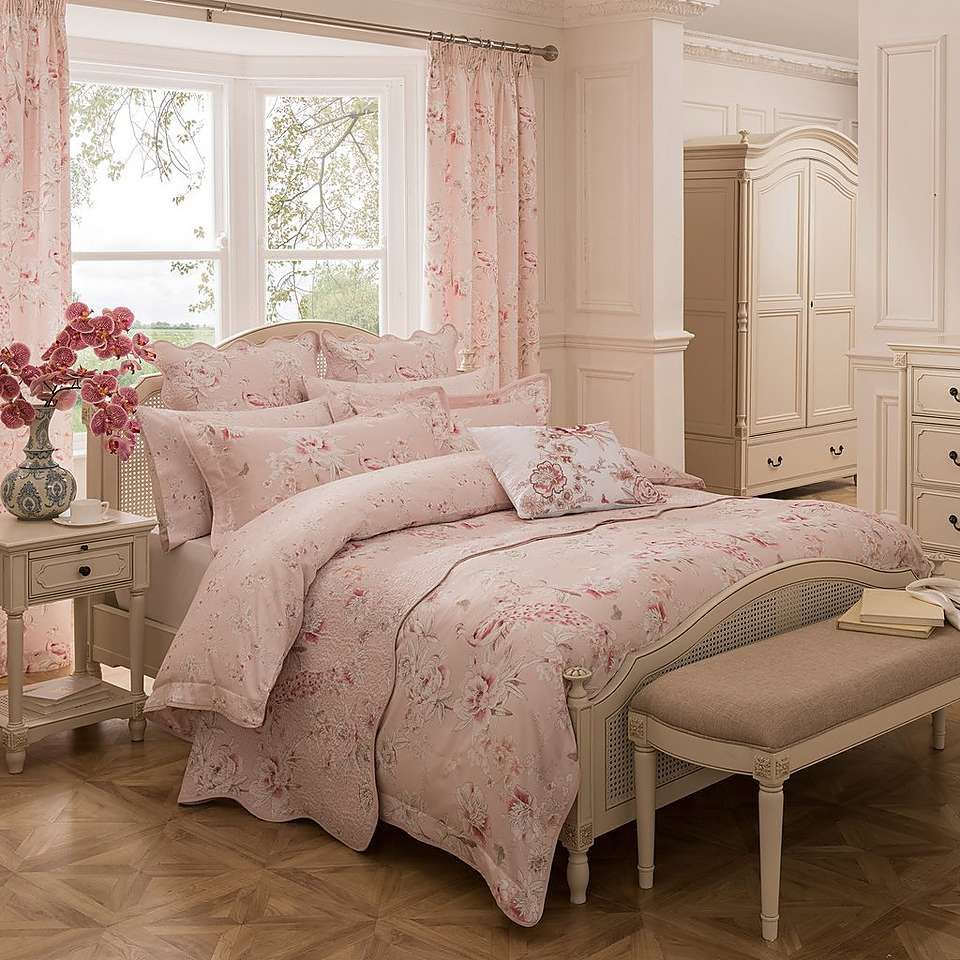 Best Dorma Paradise Blush Bed Linen Collection Dunelm Bed 400 x 300