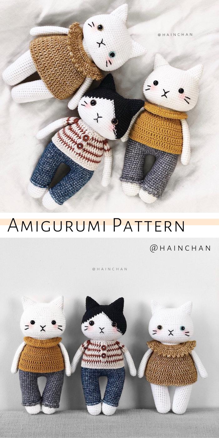9 Awesome Crochet Cat Patterns | Free Knitting Patterns | Handy ... | 1400x700