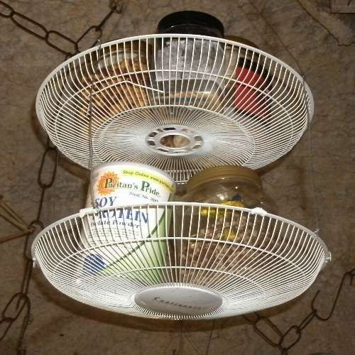 Fan Housing Baskets For Kitchen Storage Upcycle Ideas