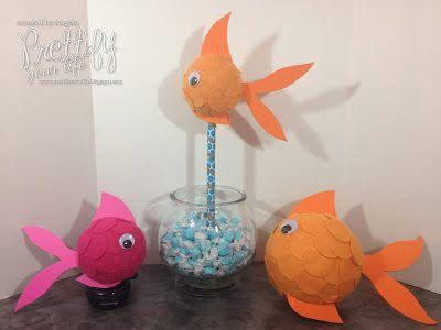 DIY Goldfish Props Parties Nifty Nautical Pinterest