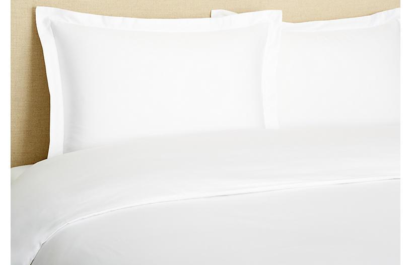 Hemstitch Duvet Set White Full Queen In 2021 Duvet Sets White Duvet Covers Linen Duvet White