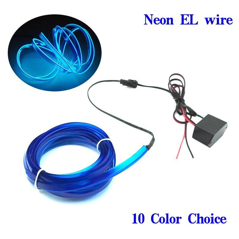 1m-5m Flexible Car EL Wire Neon Light Dance Festival Led strip EL ...