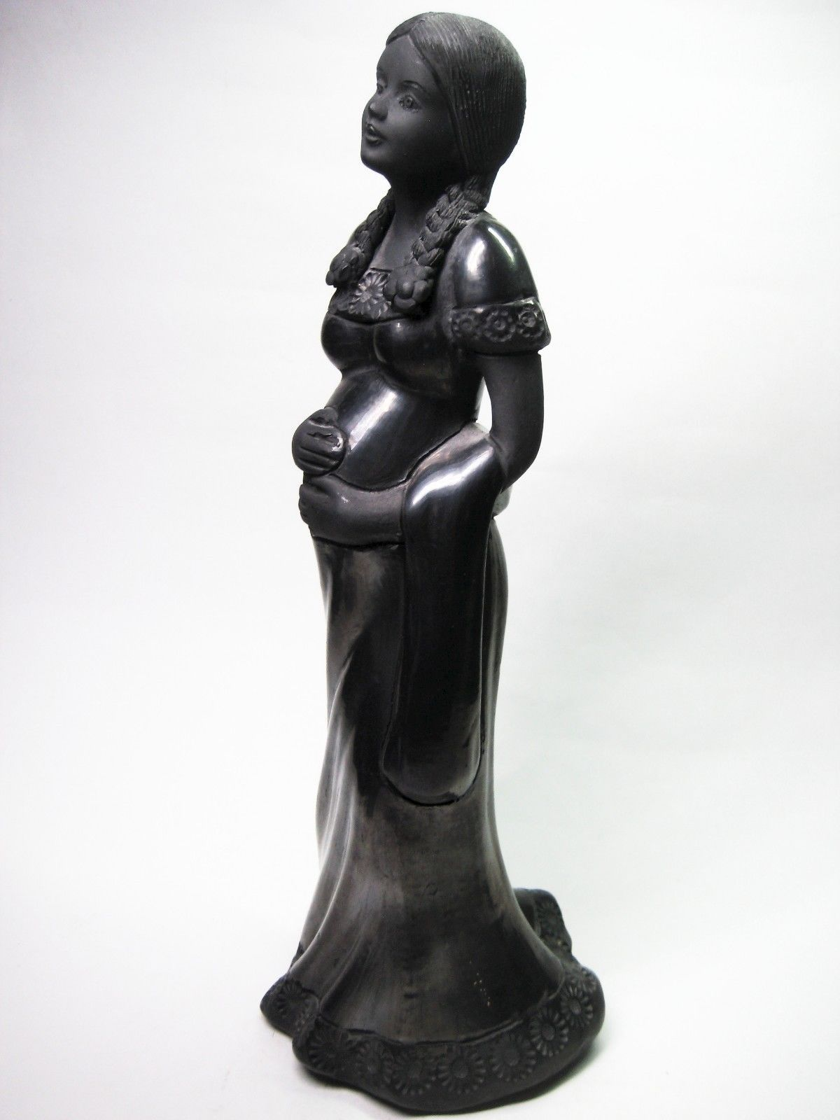Mexican paper mache vintage judas sculpture folk art at 1stdibs - Mexican Folk Art Oaxaca Barro Negro Black Figure Statue Sculpture Woman Girl Ebay