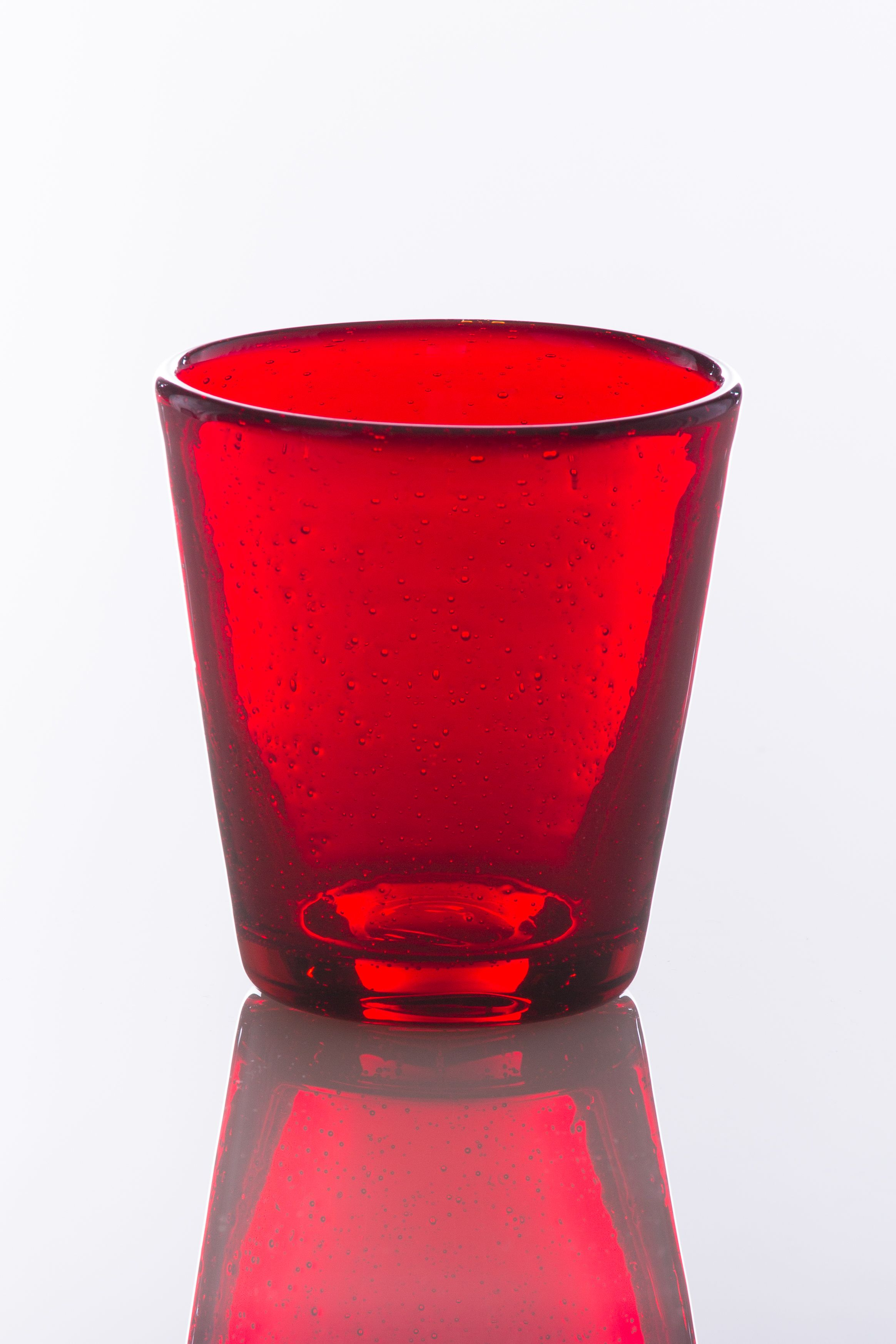 Bubble Water Glass In Red Bubble Glass Glass Water Glass
