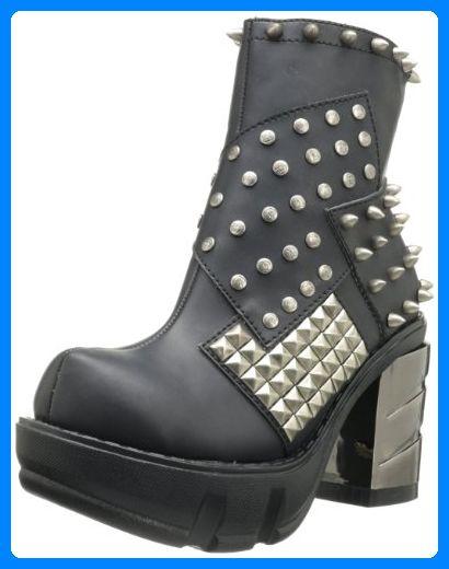 Demonia SINISTER-64, Damen Halbschaft Stiefel, Schwarz (Schwarz (Blk Vegan Leather)), 39 EU (6 Damen UK) - Stiefel für frauen (*Partner-Link)