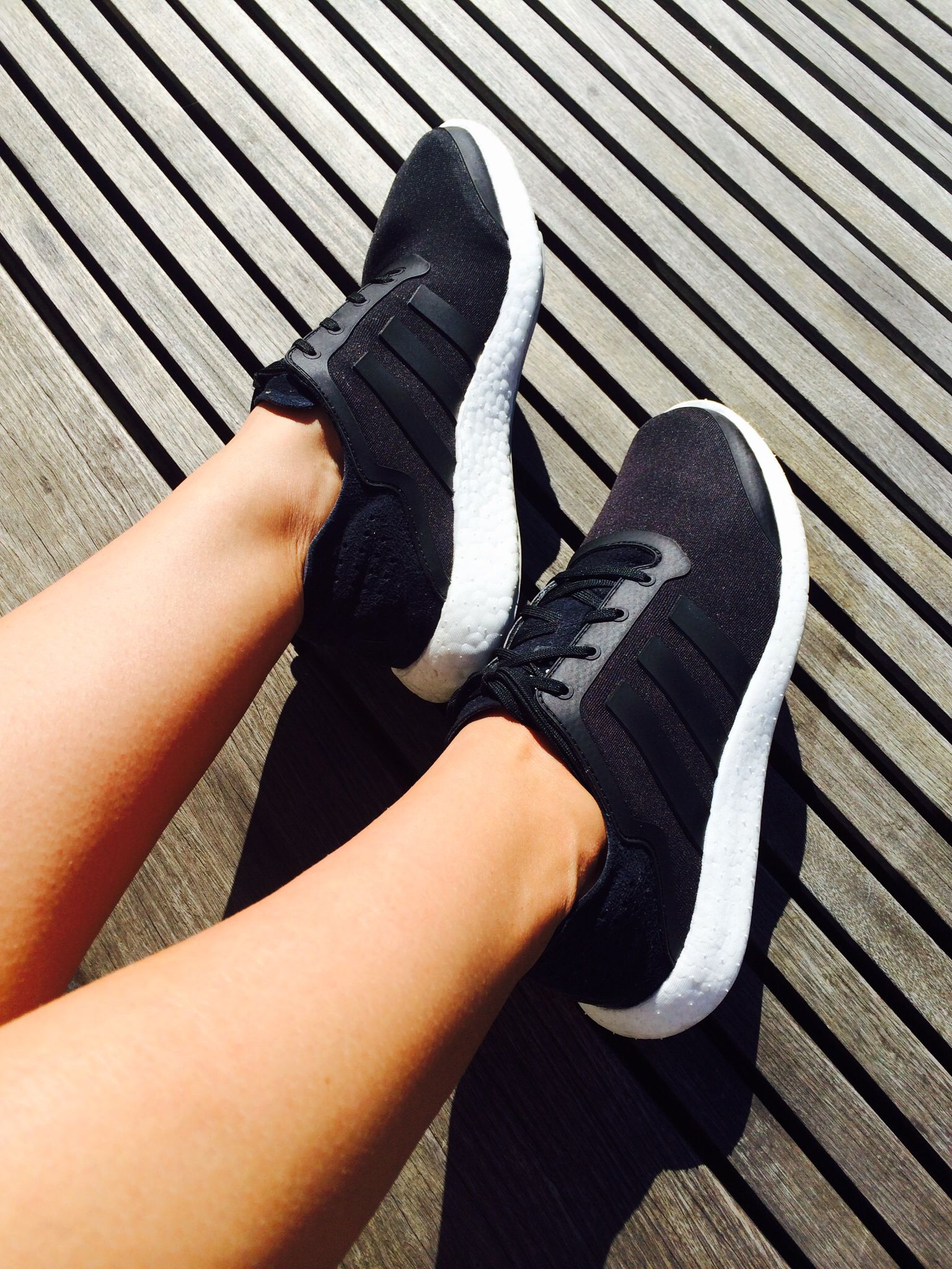 adidas boost women's black and white