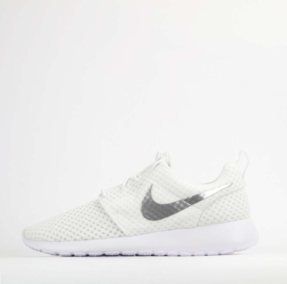 bf67027efdd4 Nike Roshe Run One Breeze Womens Shoes White Silver  Nike  Trainers ...
