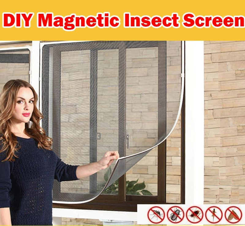 Qoo10 Diy Magnetic Furniture Deco Diy Window Screen Insect Screening Mosquito Net Diy