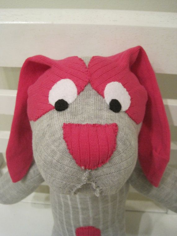 Hound Dog made from socks by scooterandgoose, $25.00