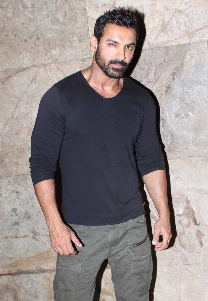 John Abraham At Dishoom Screening Bollywood Fashion Style Handsome John Abraham Mens Outfits Movie Dates