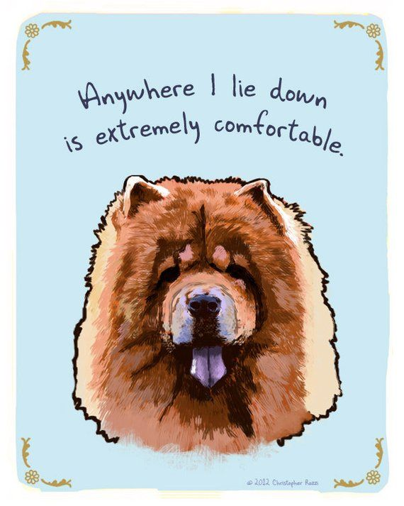 Chow Chow 8x10 Print Of Original Painting With Phrase Make Money