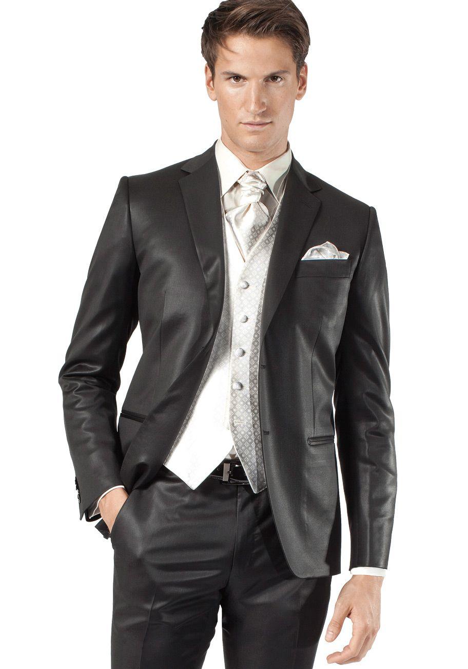 costume noir satin jean de sey costumes de mariage. Black Bedroom Furniture Sets. Home Design Ideas