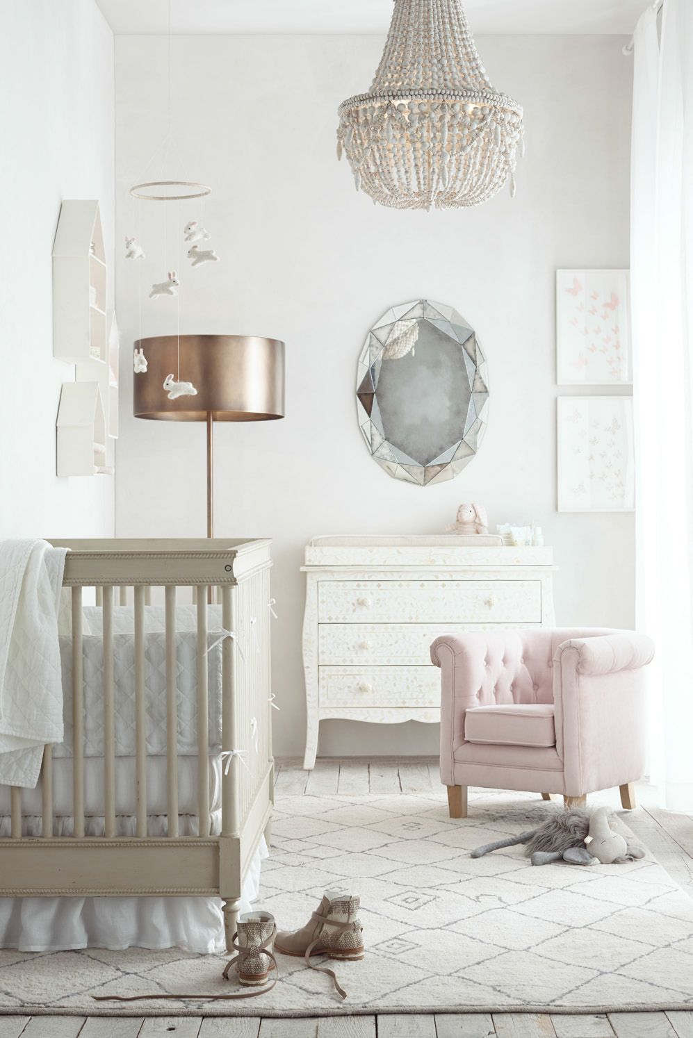 The modern nursery, by RH Baby & Child, Katie Martinez Design, and Mothermag.com #rhbabyandchildmothergiveaway