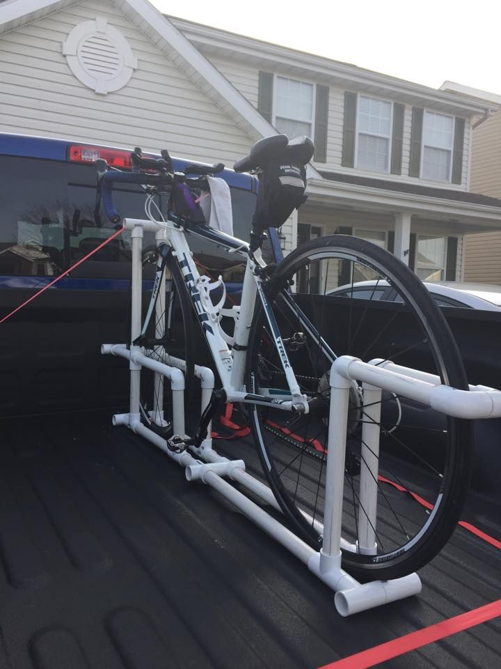 bike rack made out of PVC for truck