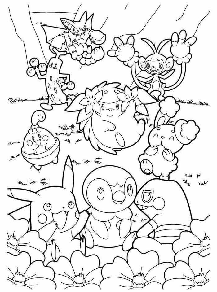 Pokemon Malvorlage zum Ausdrucken -  #ausdrucken #malvorlage #pokemon #zum #coloringsheets