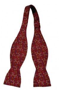 Self tie bow tie - Pink base with butterflies in dark pink Notch AxInLrv
