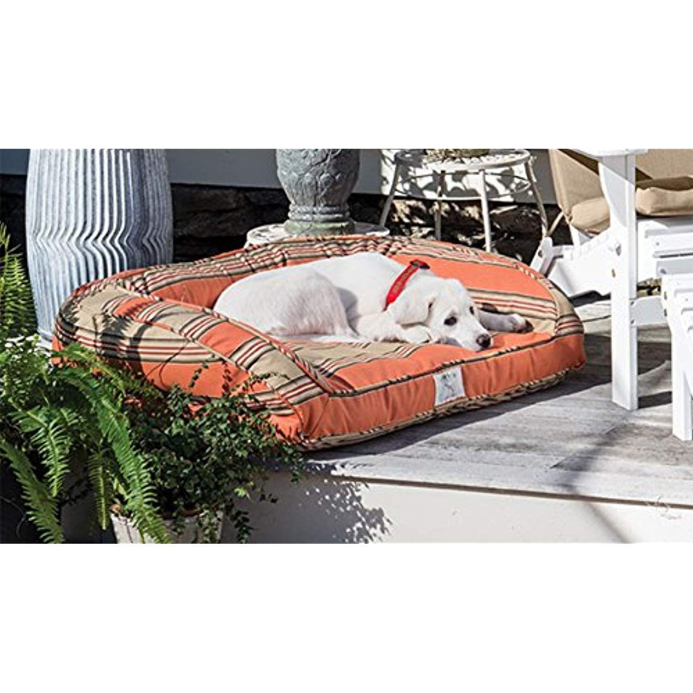Sunbrella Orvis Indoor/Outdoor Comfortfill Bolster Dog Bed