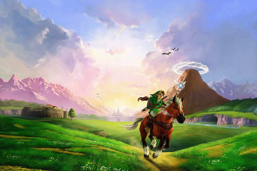 Legend of Zelda Game Poster Legend of zelda, Video game